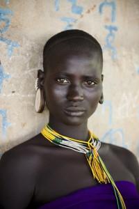 Omo Valley, Ethiopia, 08/2012; A Kara woman in the Omo Valley. @Steve McCurry