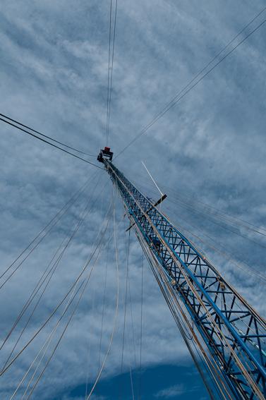 L'antenna della barca da caccia