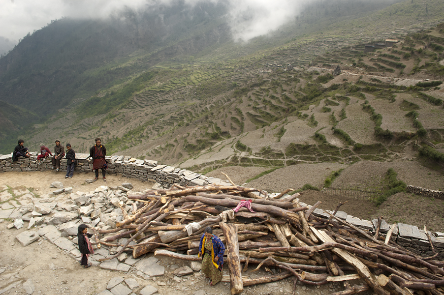 La terrazza del villaggio di Gatlang