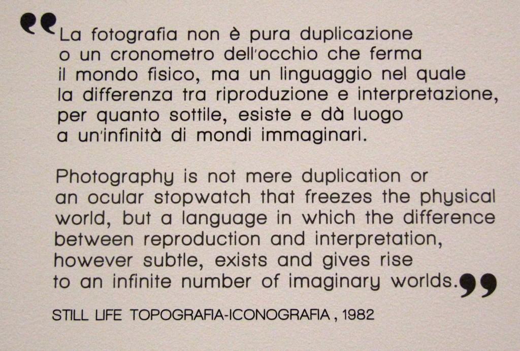 """la """"filosofia"""" negli scatti di Ghirri. Le sue fotografie sono per chi le guarda e vuol leggerci storie."""
