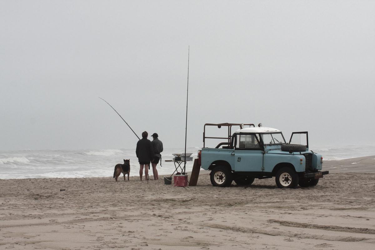 pescatori che sfidano il vento