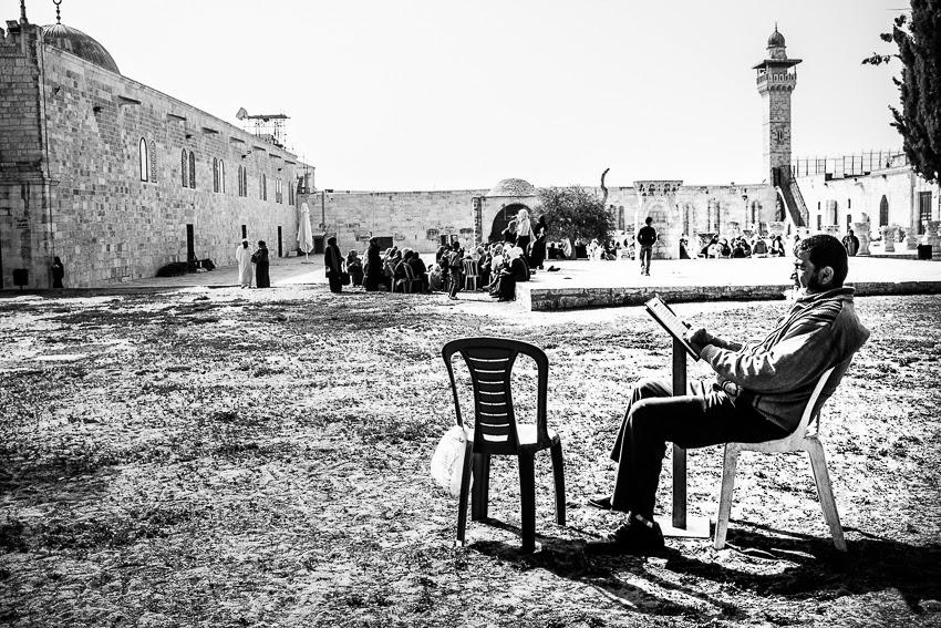 Gerusalemme,studio nella Spianata delle Moschee