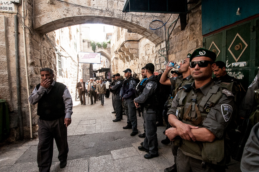 Gerusalemme, dopo la preghiera del venerdì