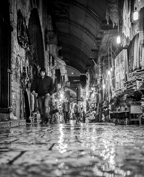 Gerusalemme, Città Vecchia, la pioggia