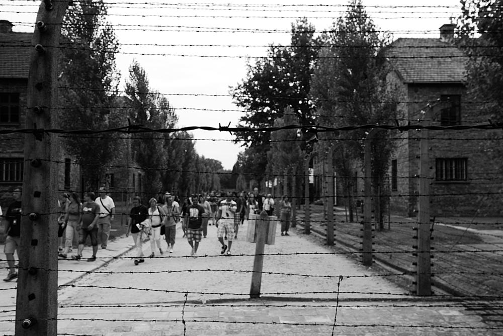 Verso il crematorio Alle spalle del filo spinato sorge il primo crematorio che poi fu trasformato in bunker