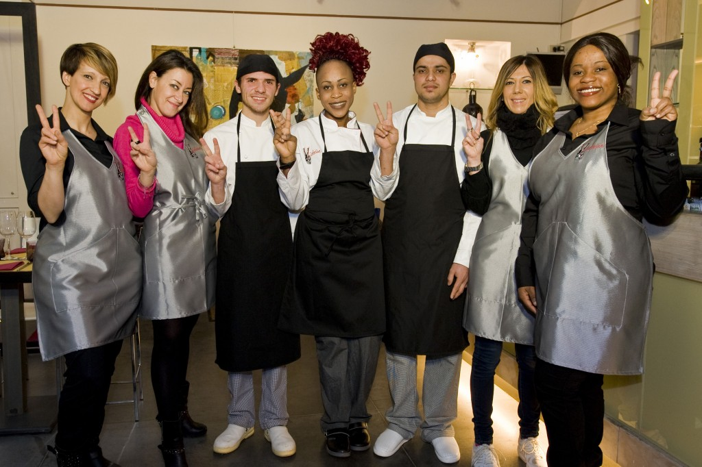 Italy, Milan, Victoire restaurant, staff