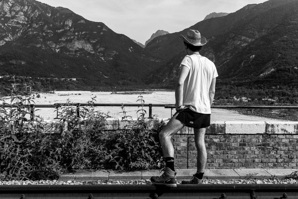 In contemplazione di vedute mozzafiato dal viadotto sul Cellina.