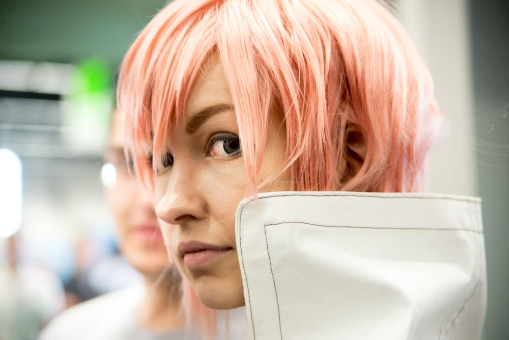 La Gamescom è l'occasione per numerosissimi cosplayers di poter interpretare un personaggio legato al proprio immaginario appartenente al mondo dei fumetti, dei manga e anime giapponesi e dei videogiochi.