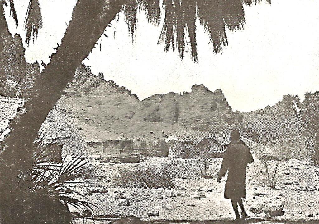 """L'oasi di Ghezendi (A. Desio, Il Sahara Italiano – Il Tibesti nord orientale, 1942- Fig. 34) Maria Emanuela Desio/Archivio """"Ardito Desio"""""""