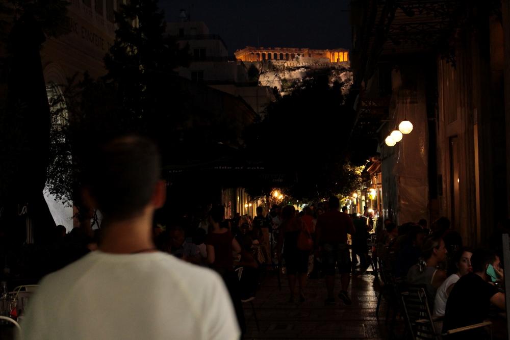 Partenone illuminato