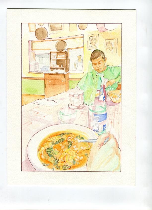 Minestrone di cavolo e riso