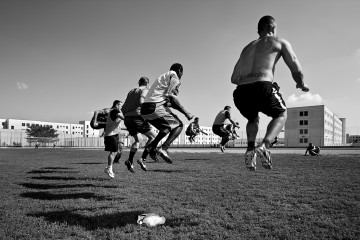 Italy, Bollate prison, training of the football team