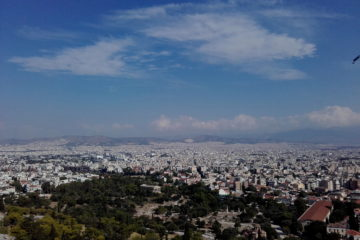 scorcio di Atene vista dall'Acropoli