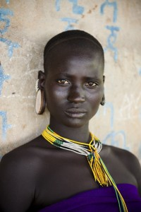 Omo Valley, Ethiopia, 08/2012; A Kara woman in the Omo Valley. @Steve McCurry
