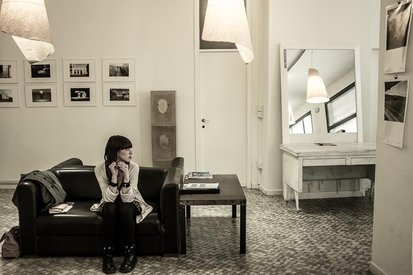 Padova Fotografia, marzo 2014, mostra in un negozio di occhiali
