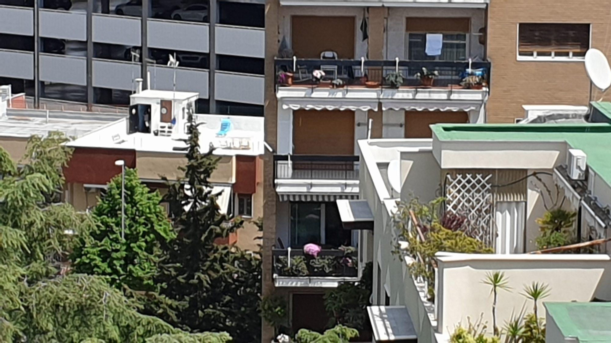 Le terrazze come salita al cielo. Come nuova realtà quotidiana. Come possibile libertà Dopo sessanta giorni, Silvana Küthz arriva alla terrazza del suo condominio