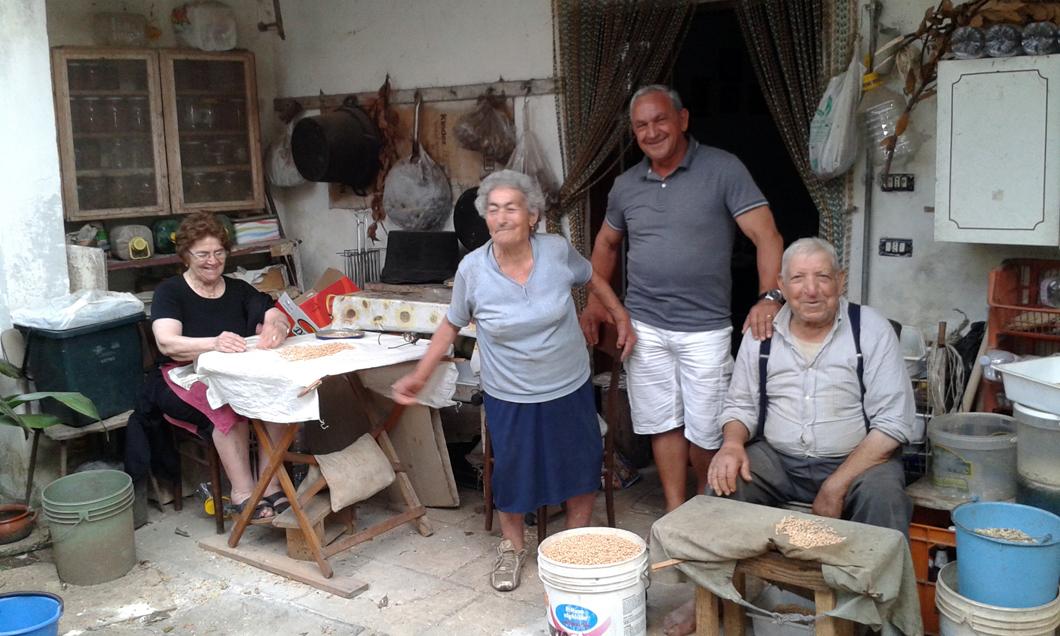 La famiglia Guida e Angelo Miggiano
